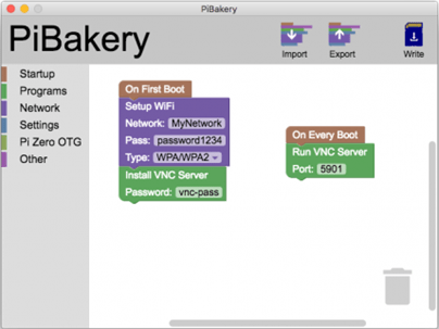 Booting Setting of Raspbian with piBakery
