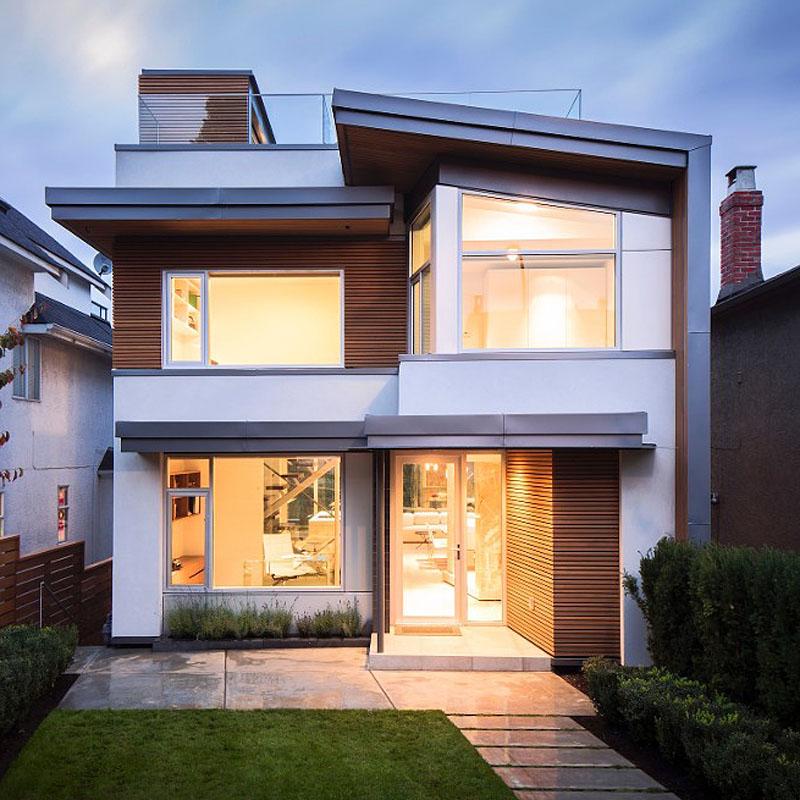 Brick and Stucco Modern House