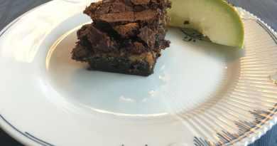 brownie med karamel-midte