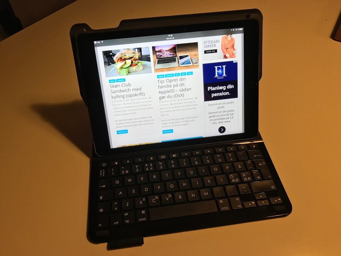 Logitech Type+ keyboard Ipad Air