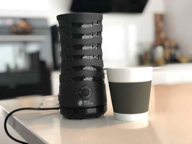 test mælkeskummer realcoffee real coffee anmeldelse af mælkeskummeren