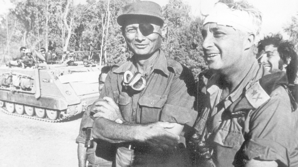 Mosche-Dajan-Ariel-Scharon-Jom-Kippur-Krieg