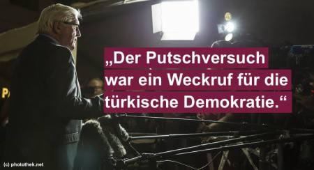 Steinmeier zum Erdogan Putsch