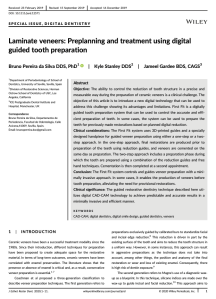 Laminate veneers: Preplanning and treatment using digital guided tooth preparation