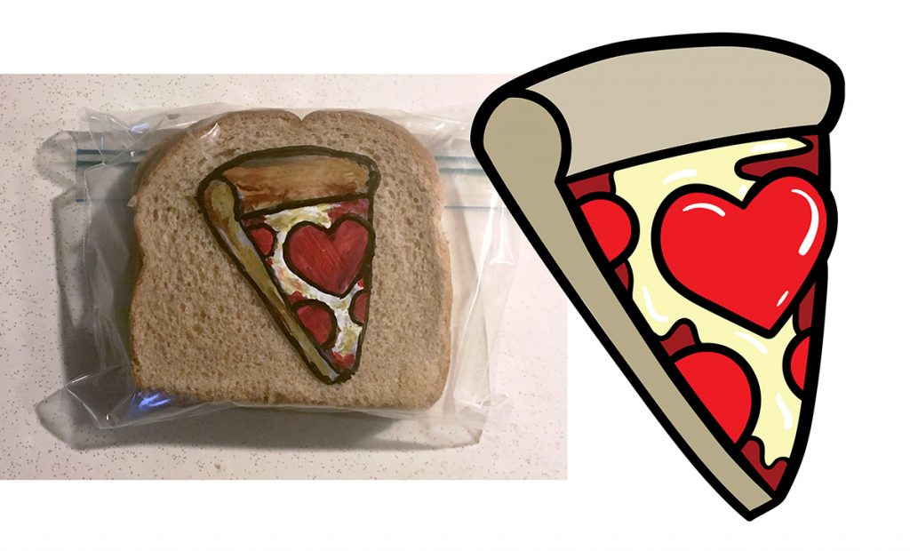 Sandwich bag art and drawing