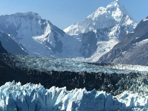magnificent view of glacier