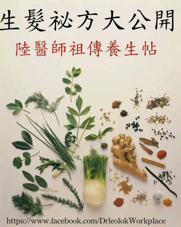 陸醫師祖傳養生帖--生髮祕方大公開 | Dr Leo Lok's Blog