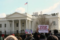 Secret Service Overlooks the 'Forward On Climate' Rally at The White House