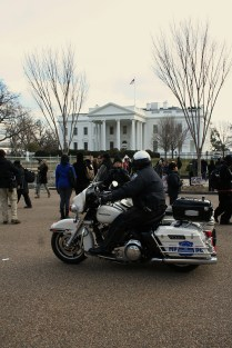 Police Motorcycle and The White House - 'Forward On Climate' Rally