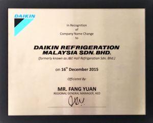 Announcement: New Era as Daikin Refrigeration Malaysia (DRM) Image