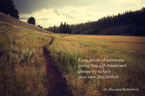 try to face your own discomfort