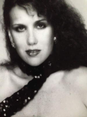 Me as a nightclub singer in the 80's.