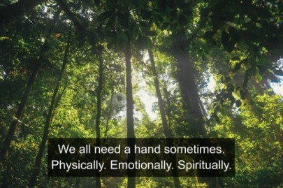 We all need a hand sometimes. Physically. Emotionally. Spiritually