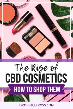 Lipstick, blush, mascara, and eyeshadows containing CBD