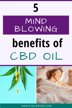 woman beats insomnia by using cbd oil