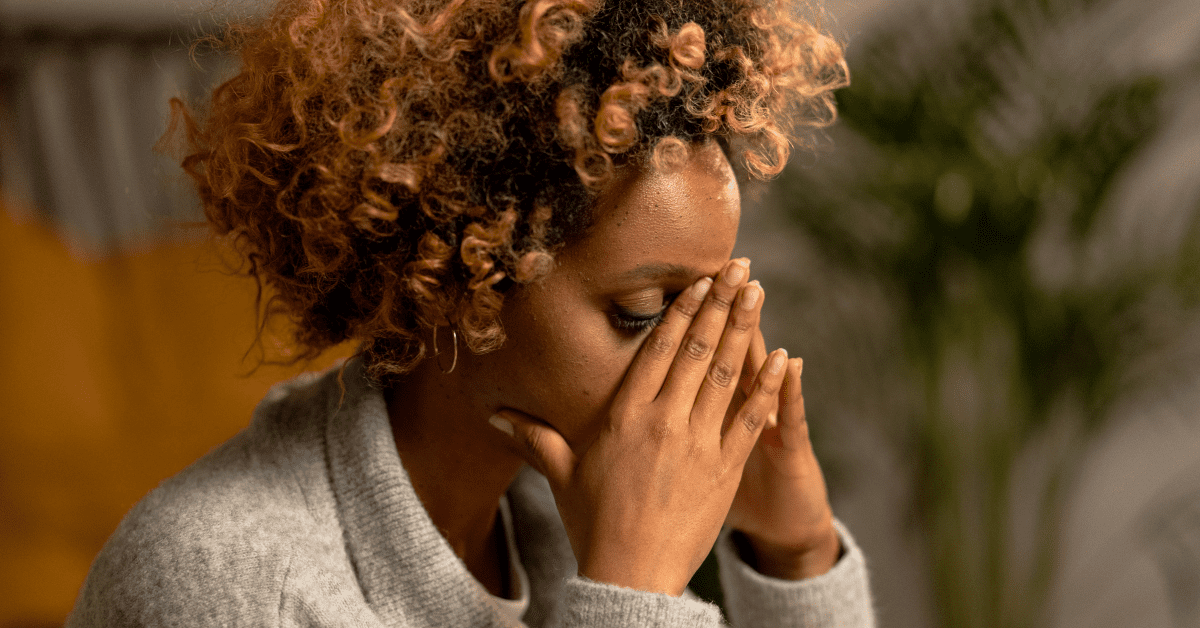 young black woman needs CBD for anxiety