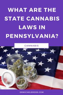 medical cannabis from marijuana dispensary in Pennsylvania on American Flag