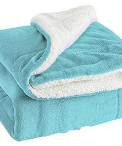 Bedsure Sherpa Throw Blanket Lt Blue Twin Size