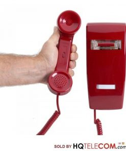 Industrial Wall Phone No Dial with Ringer - RED by HQTelecom