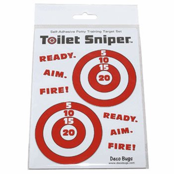 Toilet Sniper Potty Training Self-Adhesive Targets