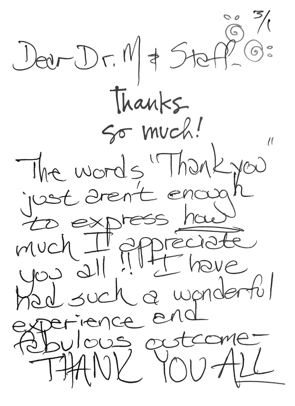 Thank You Note To Doctor : thank, doctor, Testimonials, Thank, Cards, Movassaghi