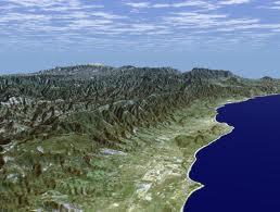 Santa Barbara SRTM with LANDAT overlay