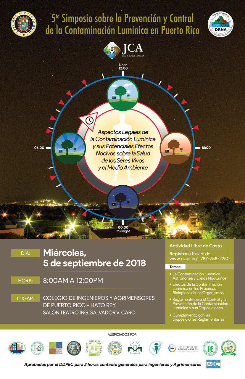 DRNA   Orientarán sobre la contaminación lumínica en Puerto Rico