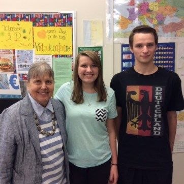 German scholarship winners Quinn & Carter 2015