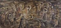 Đêm thánh vô cùng, tranh lụa của hoạ sĩ Tú Duyên, (Sài gòn, 1972)