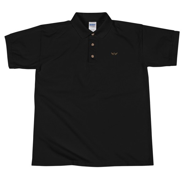 603b03c2 Embroidered Men's Black Polo With Imperial White Eagle $29.00.  mockup-3be396fc.jpg. Wishlist