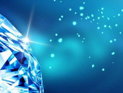 diament na niebieskim tle