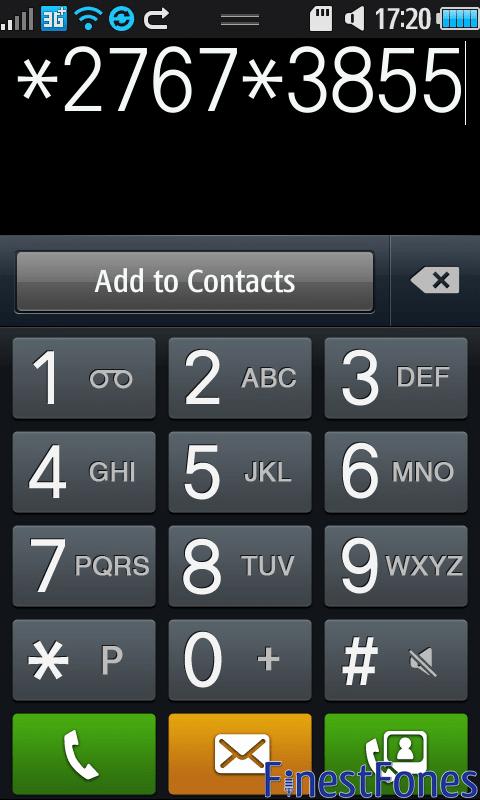 Samsung Hard Reset Codes All