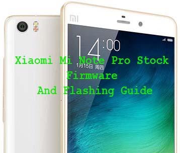 Xiaomi Mi Note Pro Stock