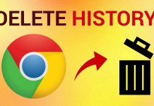 How to delete history from Google chrome