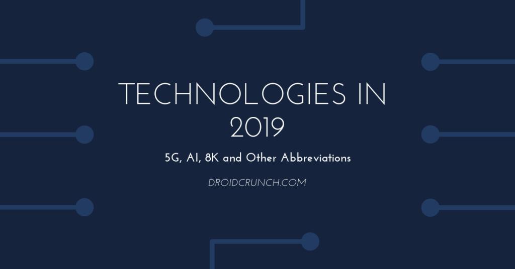 Technologies in 2019