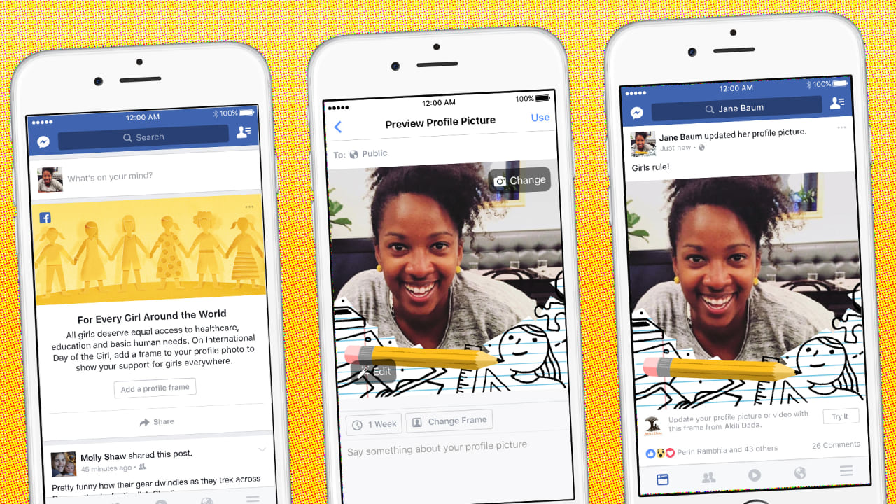 Change Facebook Profile Photo Frame and Submit your own Frame for public use