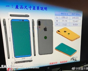 iPhone 8 Leaks: Schematics Show Vertical Dual Camera And Rear-mounted Home Button