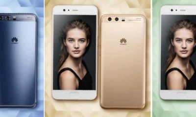 Exclusive: Huawei P10 Official Renders Leaked in Blue, Gold & Green