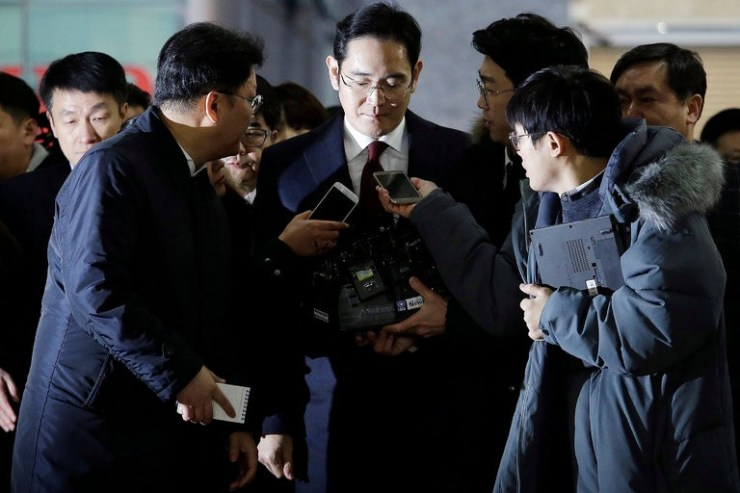 Lee Jae-Yong was arrested today