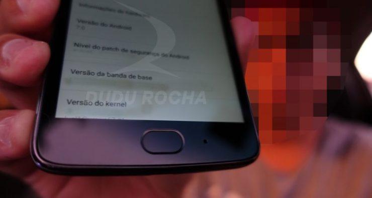 Fingerprint Scanner of Moto G5