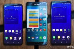 Galaxy S8 & S8 Plus next to Note 7