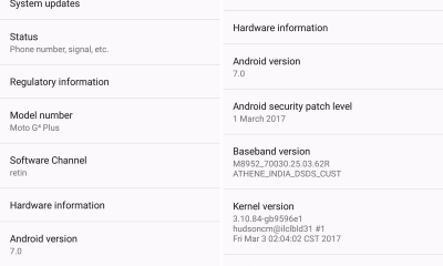 Moto G4 Plus March Security Patch