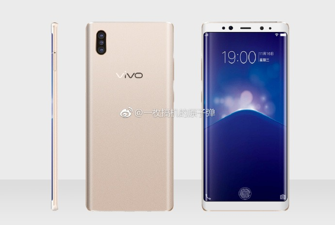 Vivo XPlay 7 Render in Gold