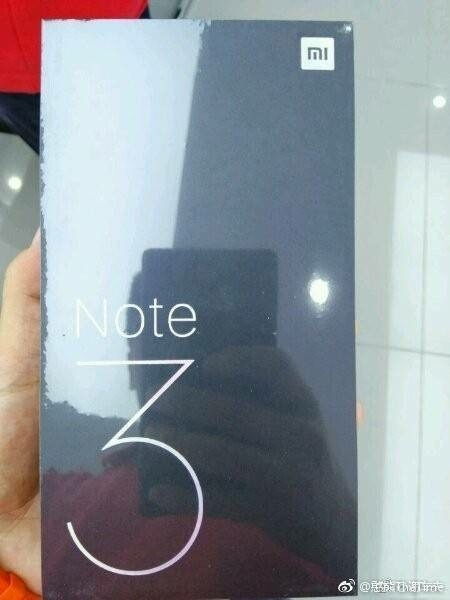 Xiaomi Mi Note 3 packaging