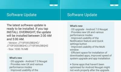 Samsung Galaxy J7 2016 Nougat Update