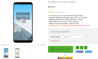 OnePlus 5T Oppo Mart