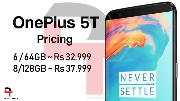 OnePlus 5T Price Leaks