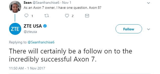ZTE Axon 7 Successor