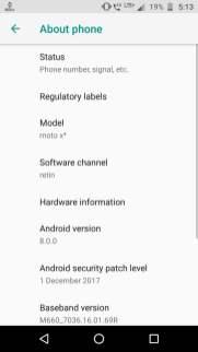 Moto X4 Android Oreo Update 2