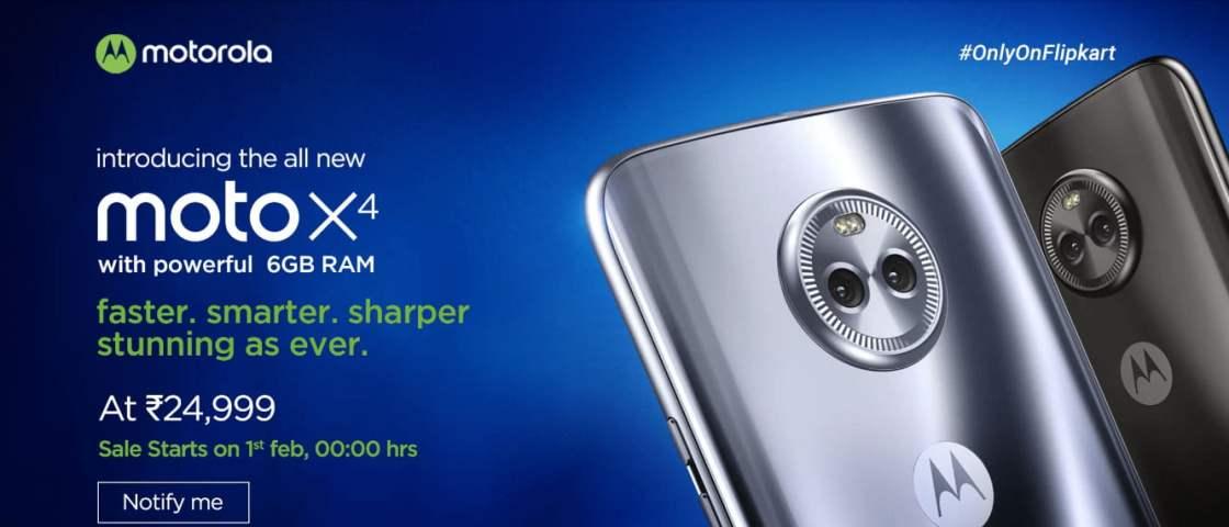 Moto X4 6GB RAM flipkart